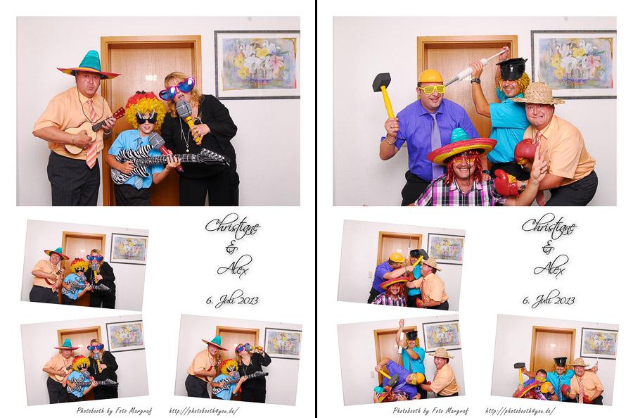Photobooth auf der kirchlichen Hochzeit von Christiane und Alex